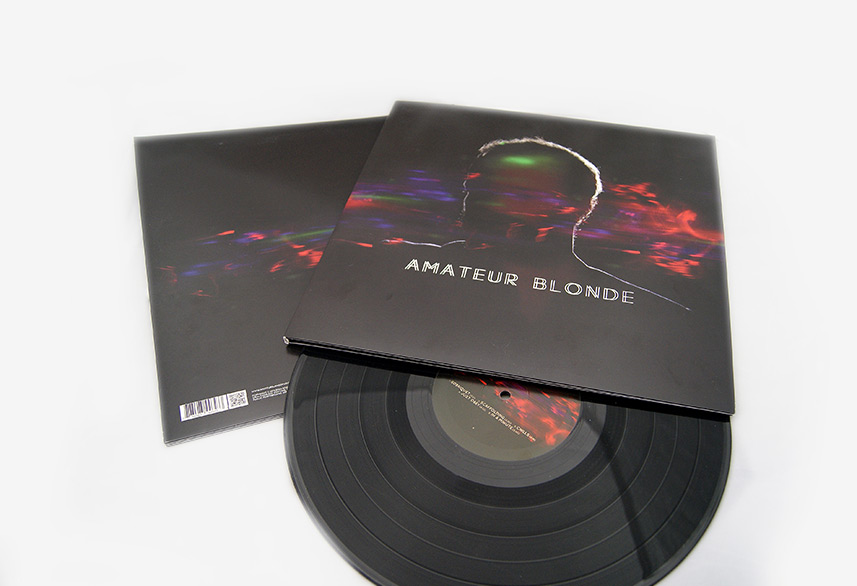 Amateur Blonde Music record sleeve design