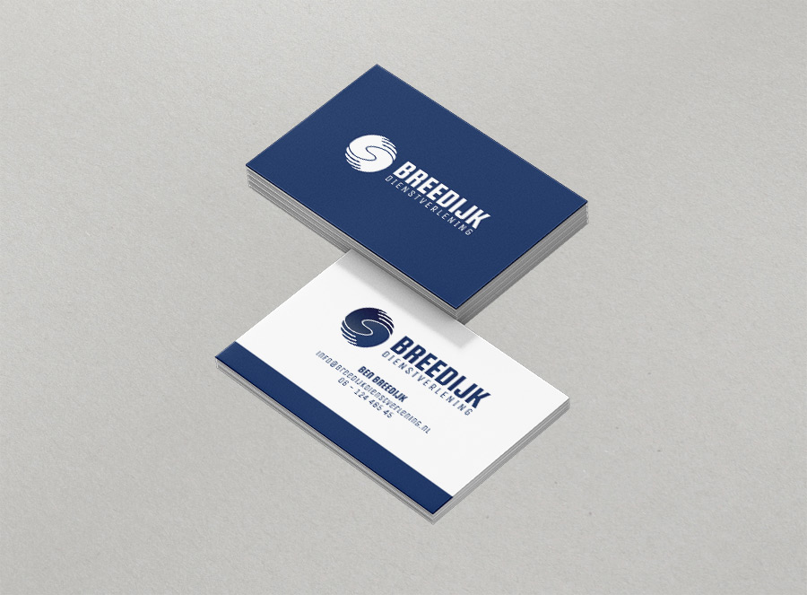 Breedijk business cards design