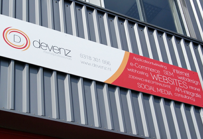 Devenz corporate identity signage