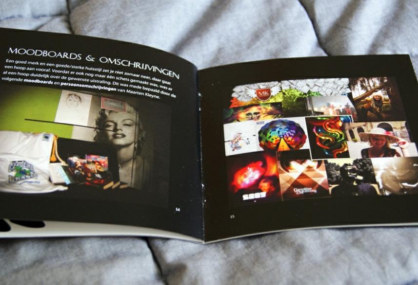 Identity magazine design moodboard
