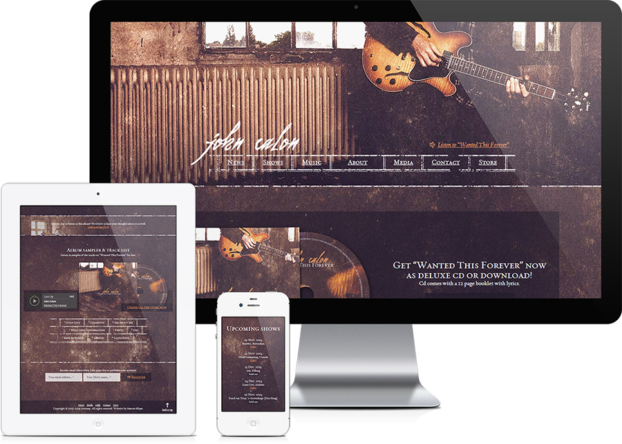 John Calon band website design