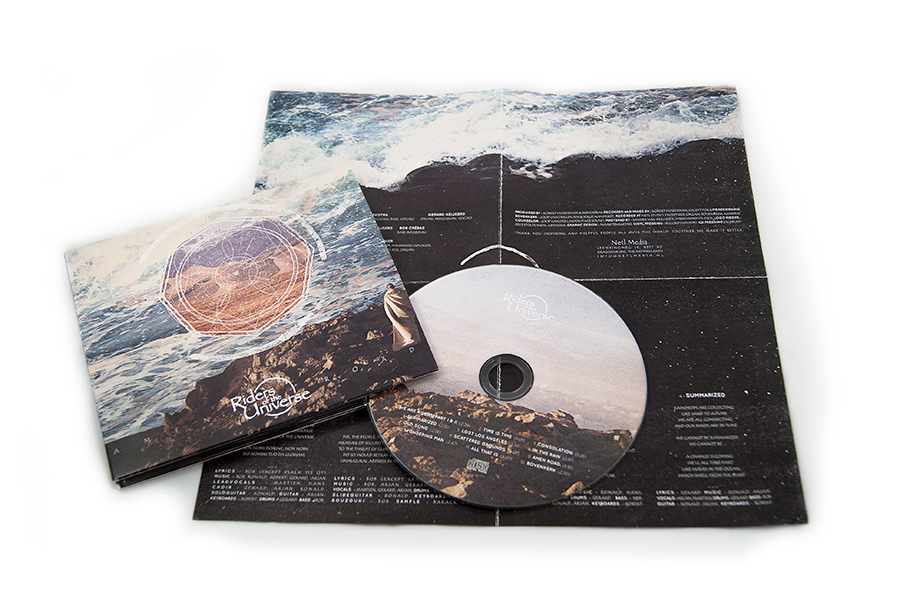 Riders of the Universe cd packaging design