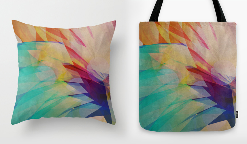 Subterranean throw pillow and tote bag designs