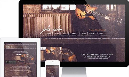 WordPress band website design