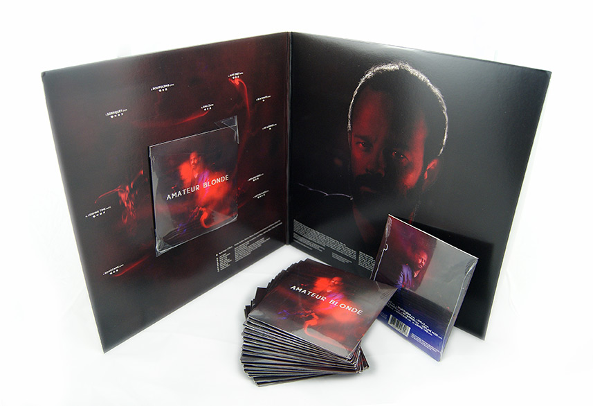 ABM cd packaging and vinyl sleeve designs
