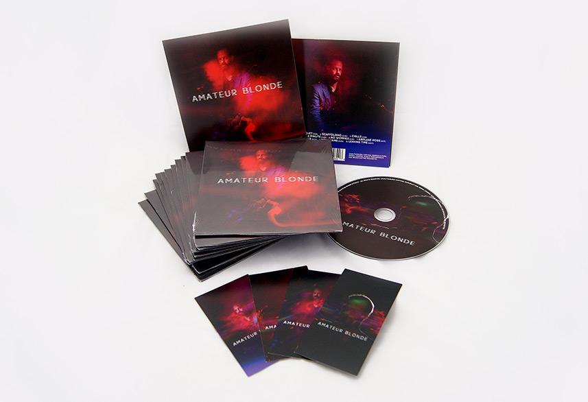 Amateur Blonde Music cd packaging design