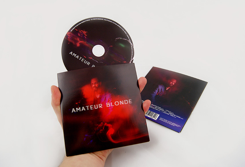 Amateur Blonde Music cd design