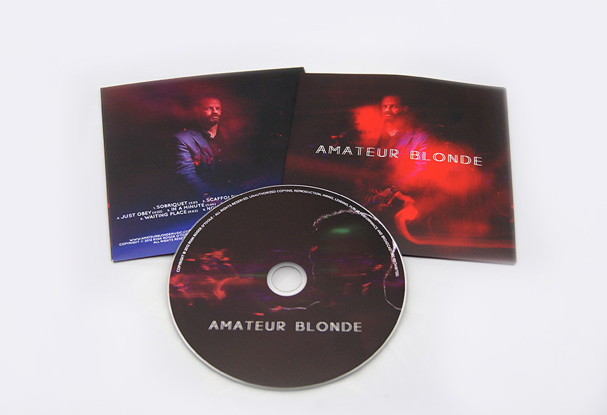 Amateur Blonde Music cd packaging design