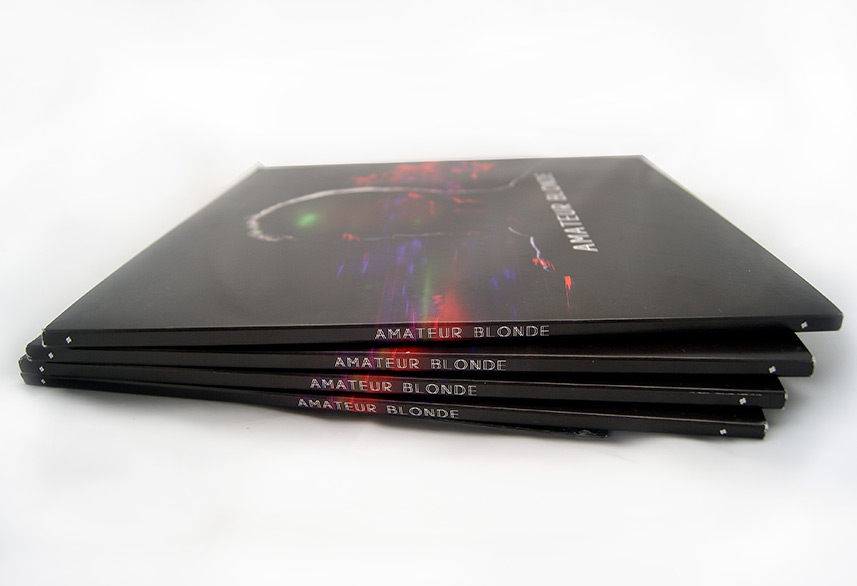 Amateur Blonde Music vinyl sleeve design