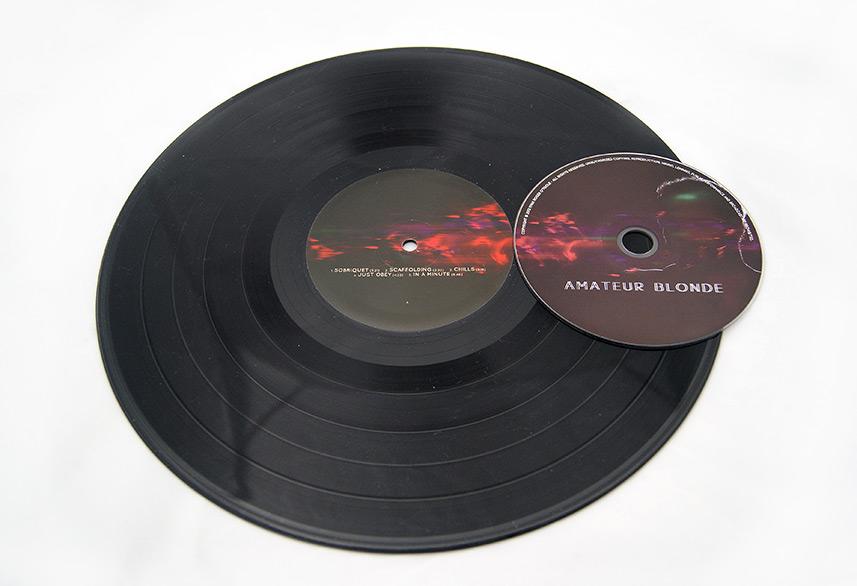Amateur Blonde Music vinyl print design