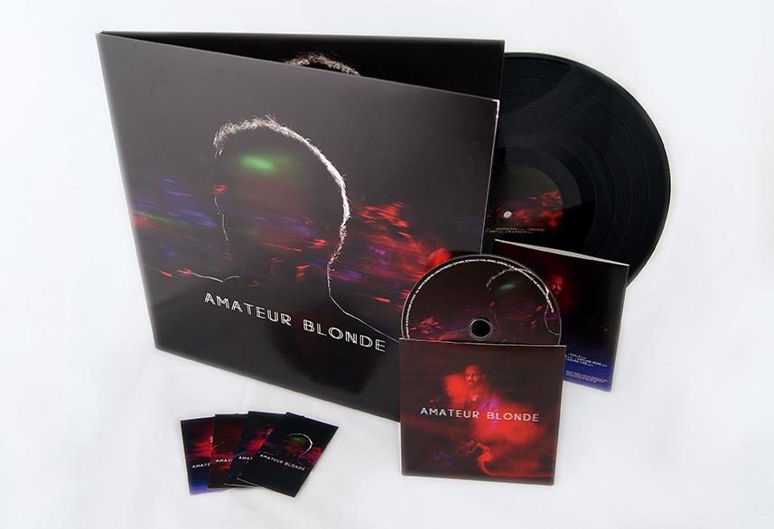 Amateur Blonde Music cd packaging
