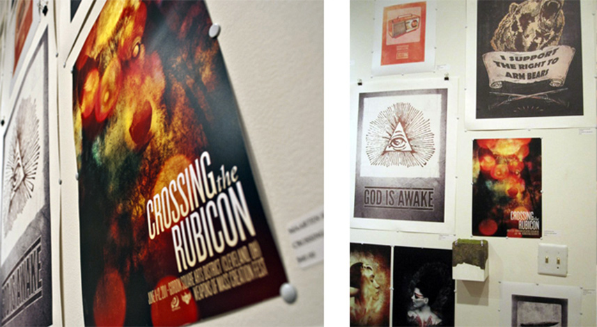 Crossing the Rubicon poster design