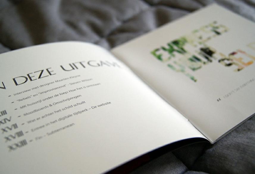 Identity magazine design contents