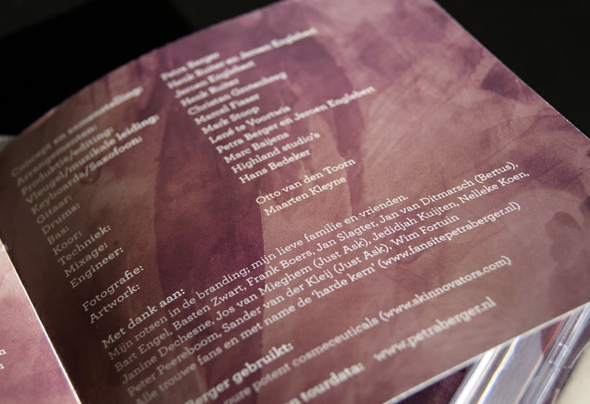 Petra Berger cd booklet design