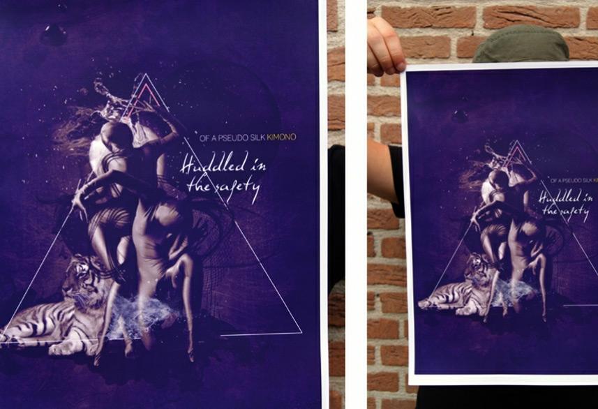 Pseudo Silk Kimono poster design print