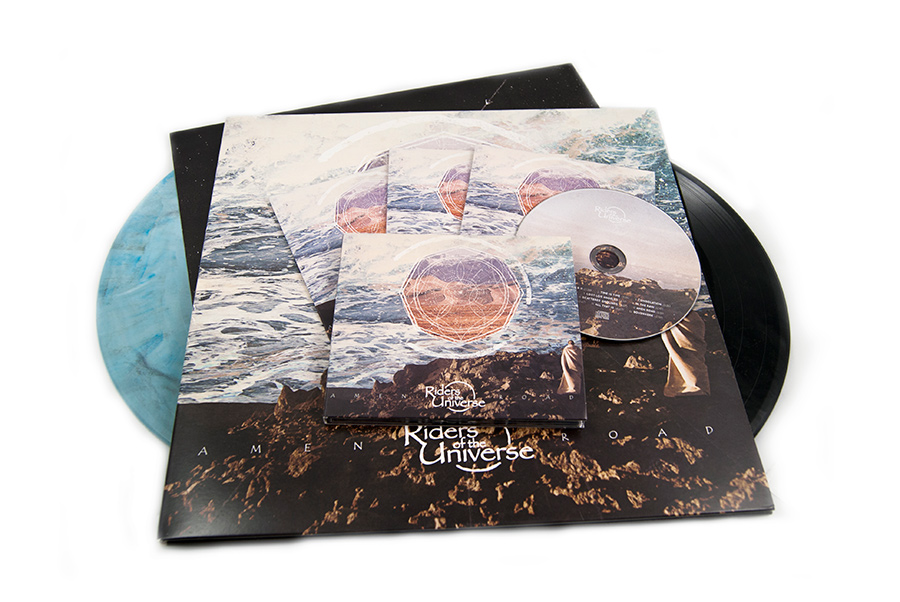 Riders of the Universe vinyl cd design