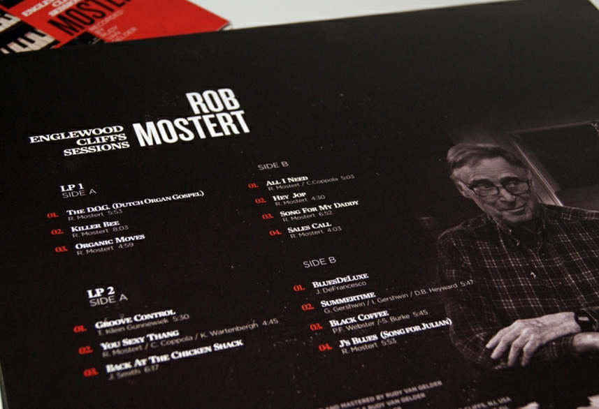 Rob Mostert record sleeve design